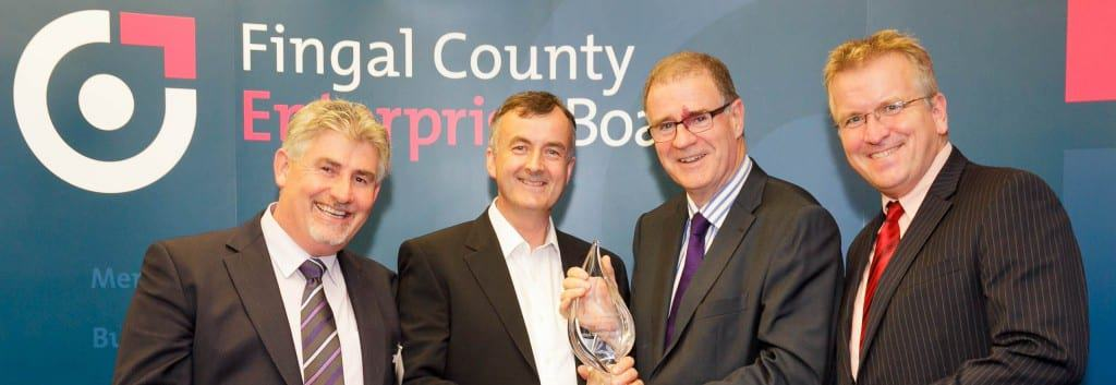 No Repro Fee...PIC: Joe Keogh.  PICTURED:  Michael Dervan, Celtic Rider; Paul Rawlins, Celtic Rider; Joe Harford, Chairman Fingal County Enterprise Board; Oisin Geoghegan, CEO, Fingal County Enterprise Board.  CAPTION: Celtic Rider, a motorcycle rental and self-guided tour company, was announced as winner of the 2013 Fingal Enterprise Awards at a ceremony in Fingal on Thursday October 3rd.  Organised as part of the annual Fingal Enterprise Week and hosted by Fingal County Council, the company was presented with the award at a ceremony in Fingal County Hall, Swords.  Set up by Paul Rawlins in 2007 and supported by Fingal County Enterprise Board, Celtic Rider will now compete to represent Fingal at the National Enterprise Awards in Dublin Castle next month. Fingal Enterprise Week is supported by Vodafone Ireland, Fingal County Council, Bank of Ireland, Regus and Newstalk.
