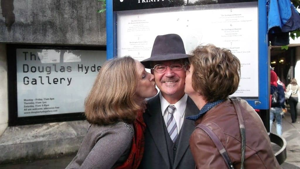 James Joyce gets the royal treatment from delegates at the IAPA Conference Adventure Day.