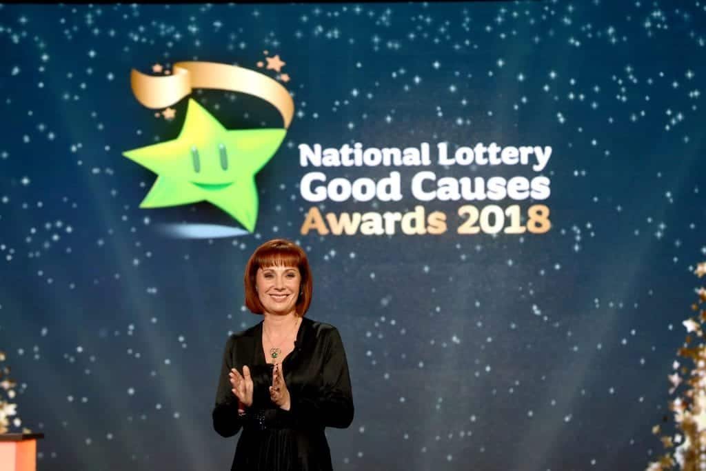 Minister Josepha Madigan announces the National Lottery Good Cause of the Year winner, The Children's Grief Centre, Limerick.