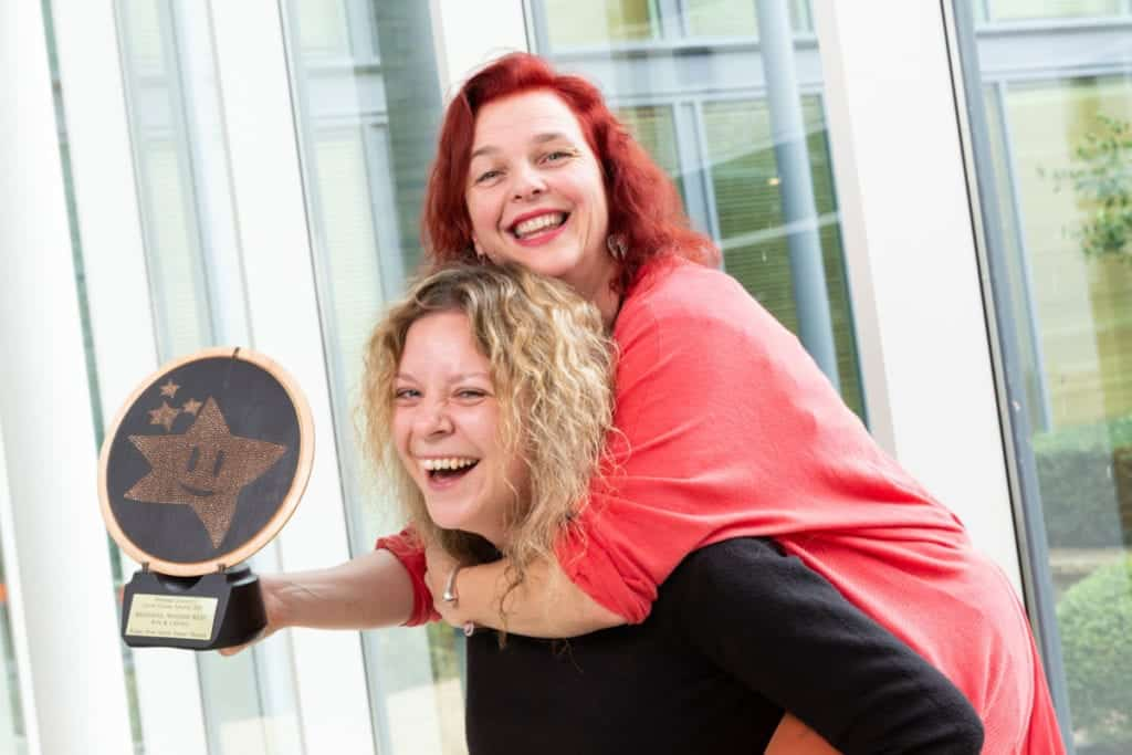 Pictured are Chantal McCormick and Juley-Ann Collins from Fidget Feet Aerial Dance Theatre who are among the 36 finalists from all over Ireland in the National Lottery Good Causes Awards 2019. The awards final will take place on Saturday 2nd November in the Clayton Burlington Hotel in Dublin. Each of the seven category winners will receive €10,000 and the overall Good Cause of the Year will receive an additional €25,000. Photo Martina Regan